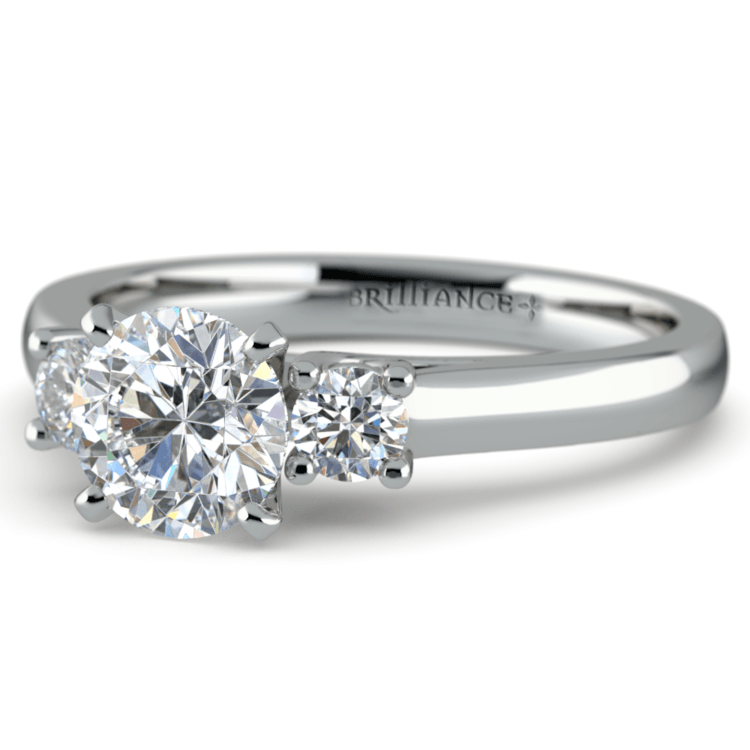 Round Diamond Engagement Ring in White Gold (1/4 ctw) | 04