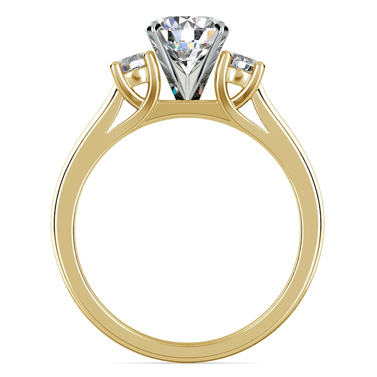 Round Diamond Engagement Ring in Yellow Gold (1/4 ctw) | 02