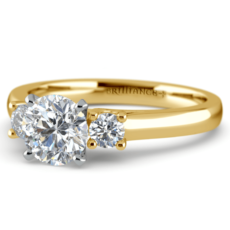 Round Diamond Engagement Ring in Yellow Gold (1/4 ctw) | 04