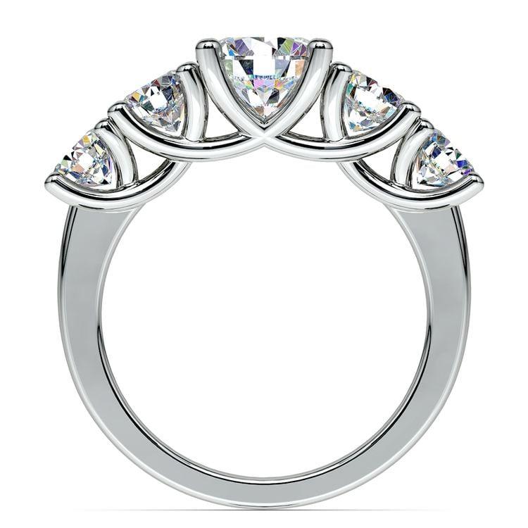 Trellis Five Diamond Engagement Ring in Platinum (3/4 ctw) | 02