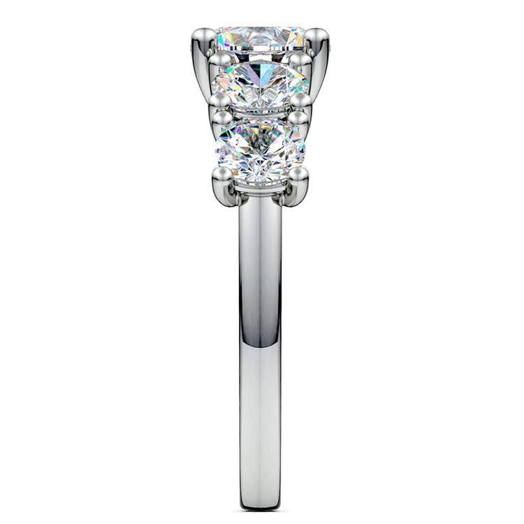 Trellis Five Diamond Engagement Ring in Platinum (3/4 ctw) | 03
