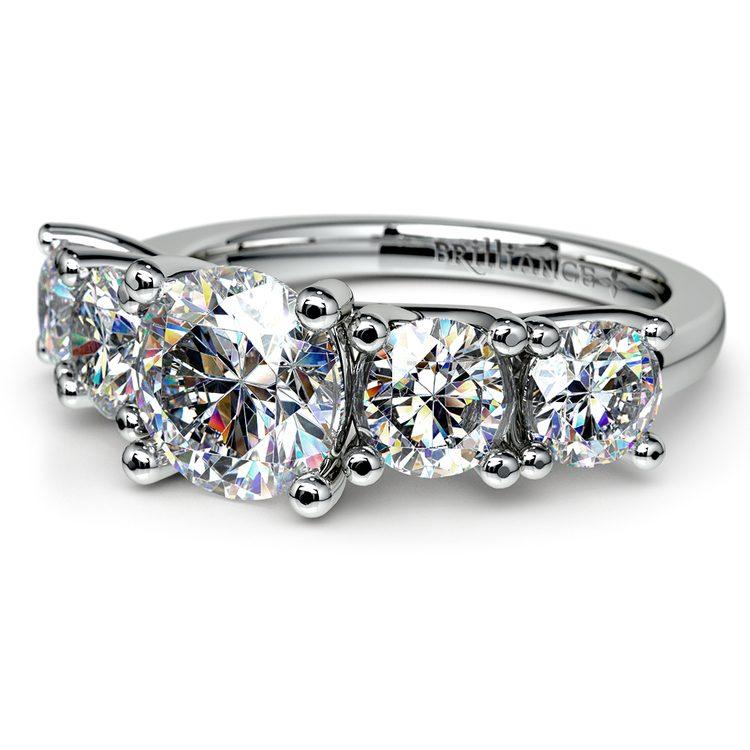 Trellis Five Diamond Engagement Ring in Platinum (3/4 ctw) | 04