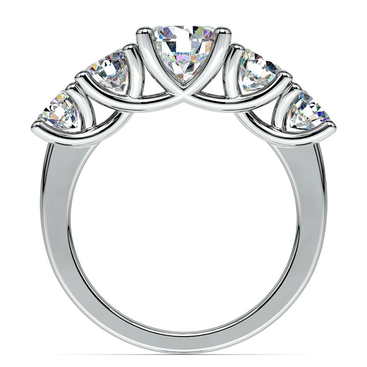 Trellis Five Diamond Engagement Ring in White Gold (3/4 ctw) | 02