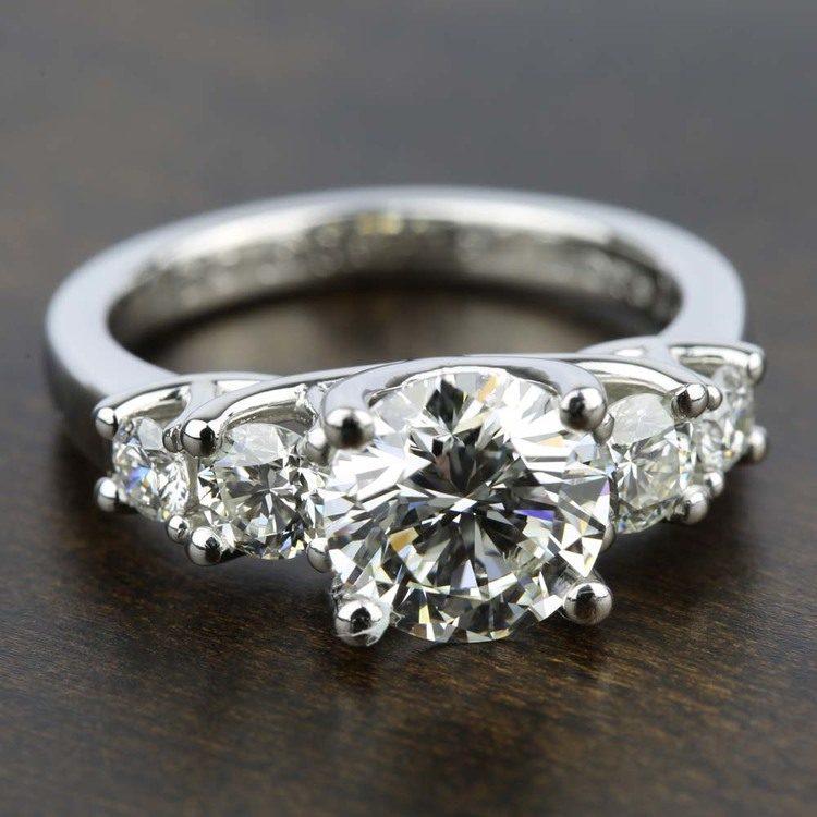 Trellis Five Diamond Engagement Ring in Platinum (3/4 ctw) | 05