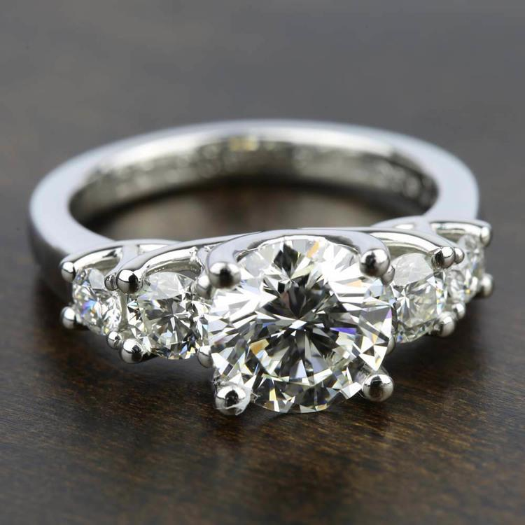 Trellis Five Diamond Engagement Ring in White Gold (3/4 ctw) | 05