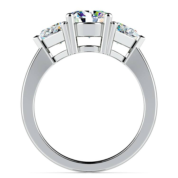 Trillion Diamond Engagement Ring in White Gold (3/4 ctw) | 02