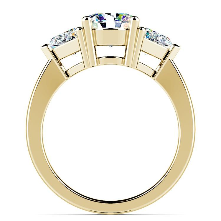 Trillion Diamond Engagement Ring in Yellow Gold (3/4 ctw) | 02