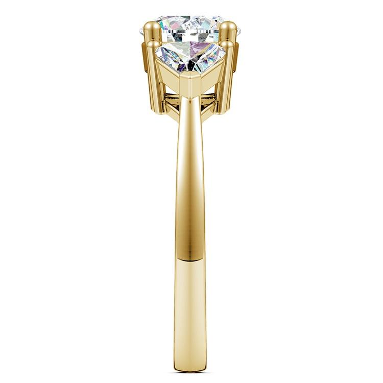 Trillion Diamond Engagement Ring in Yellow Gold (3/4 ctw) | 03