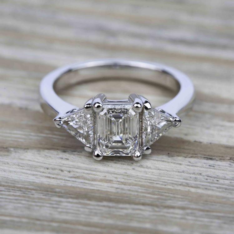 Trillion Diamond Engagement Ring in Platinum (3/4 ctw) | 05