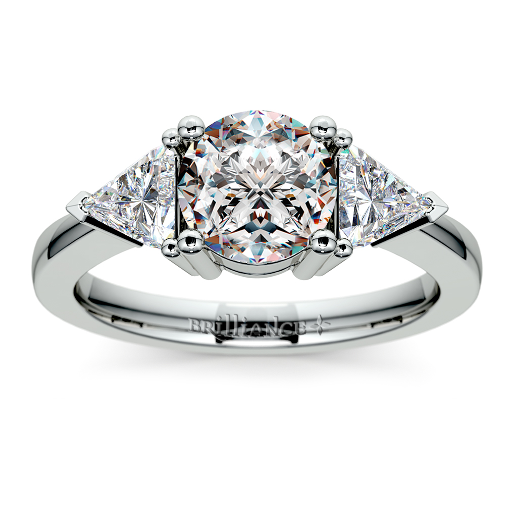 Trillion Diamond Engagement Ring In Platinum (34 Ctw. Non Wedding Rings. Real Hand Rings. Heart Shape Design Wedding Rings. Iridescent Wedding Rings. Unique Colored Engagement Engagement Rings. Girl 2017 Rings. Genuine Engagement Rings. Edwardian Style Engagement Rings