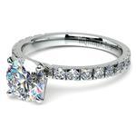 Petite Pave Diamond Engagement Ring in Palladium | Thumbnail 04