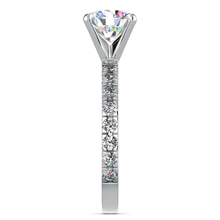 Petite Pave Diamond Engagement Ring in Palladium | 03