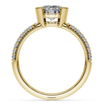Half Bezel Diamond Engagement Ring in Yellow Gold (3/8 ctw)  | Thumbnail 02