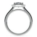 Halo Diamond Engagement Ring in Palladium (3/8 ctw) | Thumbnail 02