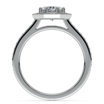 Halo Diamond Engagement Ring in White Gold (3/8 ctw) | Thumbnail 02