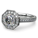 Halo Diamond Engagement Ring in White Gold (3/8 ctw) | Thumbnail 04