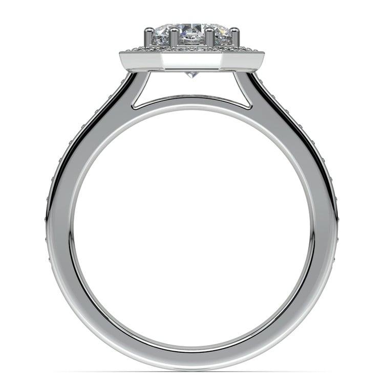 Halo Diamond Engagement Ring in Platinum (3/8 ctw) | 02