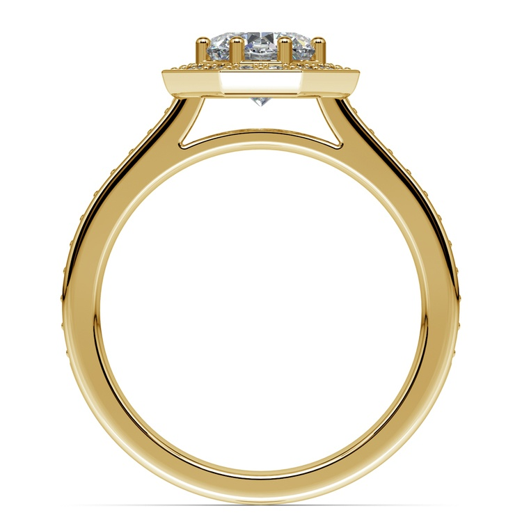 Halo Diamond Engagement Ring in Yellow Gold (3/8 ctw) | 02