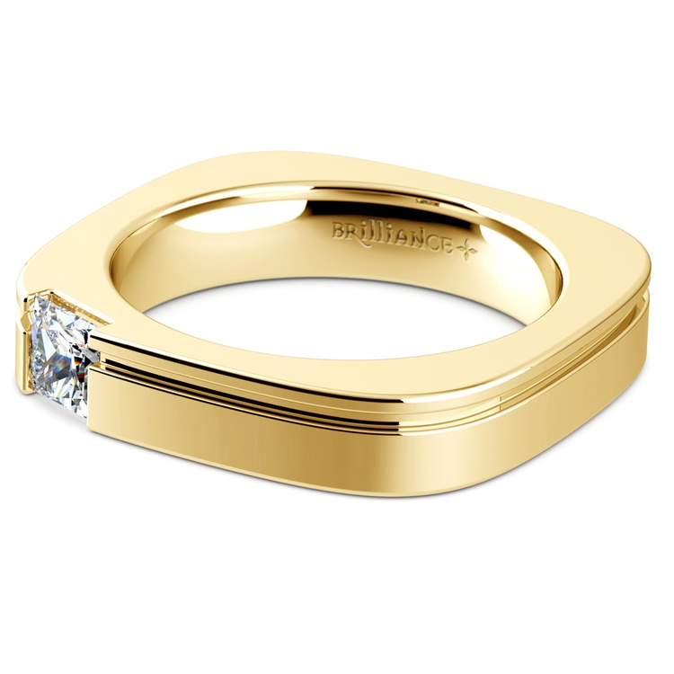 Achilles Princess Solitaire Mangagement™ Ring in Yellow Gold (1/2 ctw) | 04