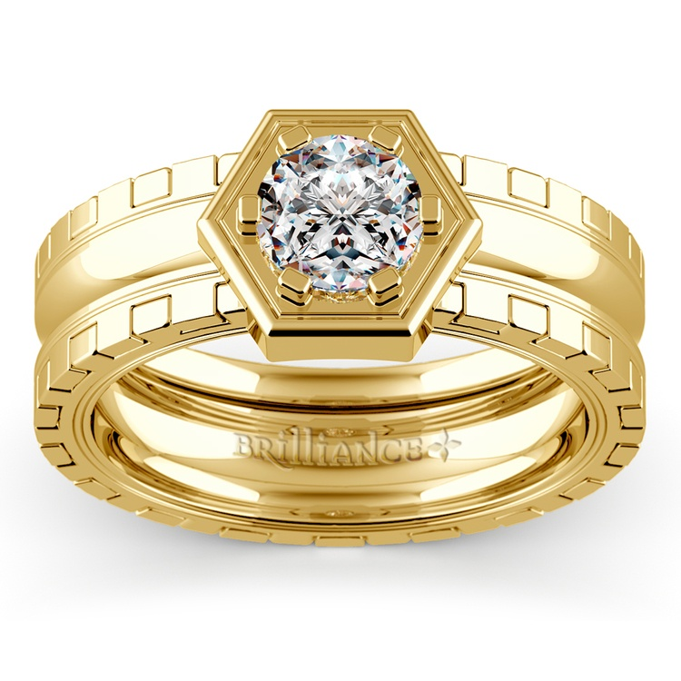 Ajax Solitaire Mangagement™ Ring in Yellow Gold (1 ctw) | 01