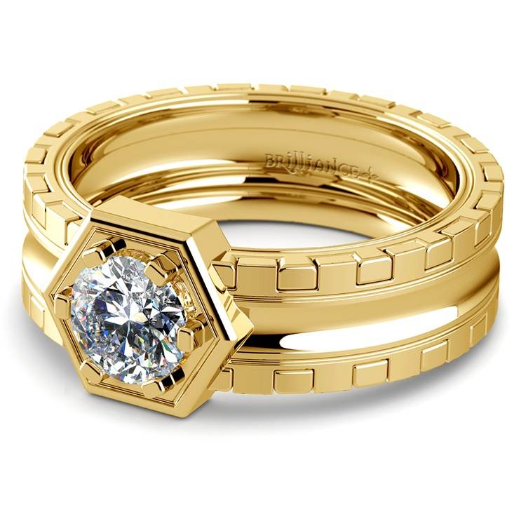 Ajax Solitaire Mangagement™ Ring in Yellow Gold (1 ctw) | 04