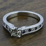 Antique Diamond & Sapphire Gemstone Engagement Ring in Platinum | Thumbnail 05