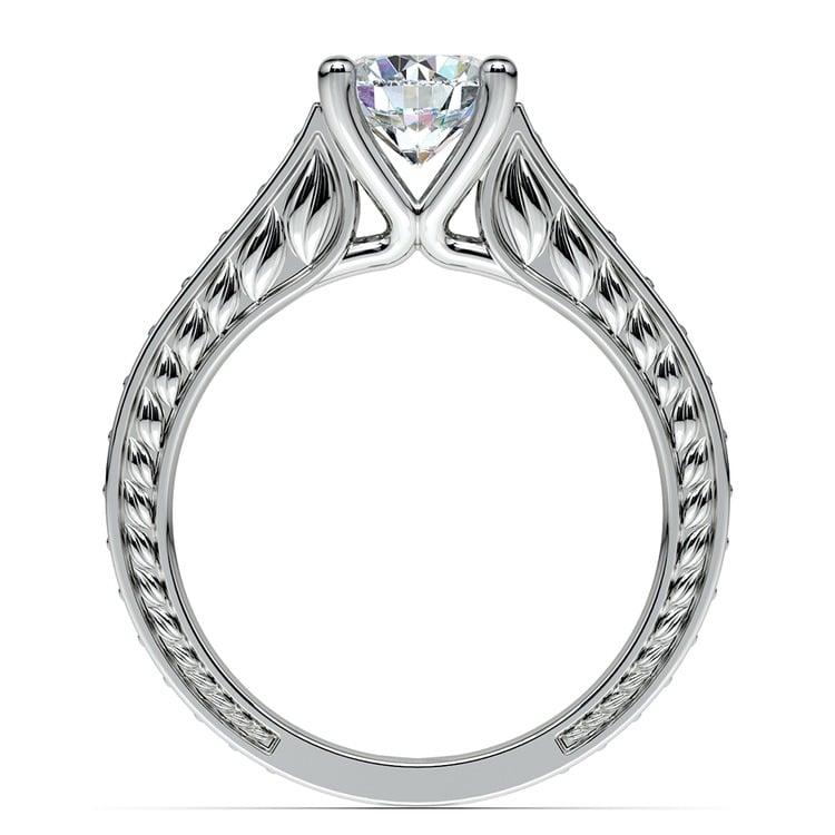 Antique Diamond & Sapphire Gemstone Engagement Ring in Platinum | 02