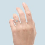 Antique Floral Knife Edge Solitaire Engagement Ring in Rose Gold | Thumbnail 06