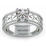 Antique Milgrain Solitaire Engagement Ring in Platinum | Thumbnail 01