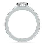 Antique Milgrain Solitaire Engagement Ring in Platinum | Thumbnail 02