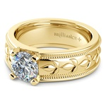 Antique Milgrain Solitaire Engagement Ring in Yellow Gold | Thumbnail 04