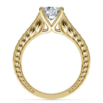 Antique Sapphire Gemstone Engagement Ring in Yellow Gold | Thumbnail 02