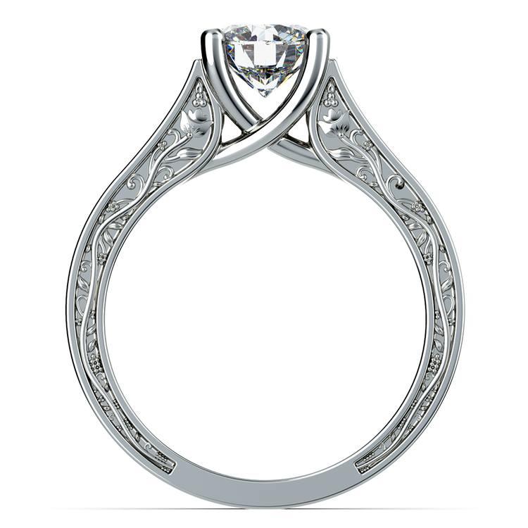 Antique Solitaire Engagement Ring in Platinum | 02