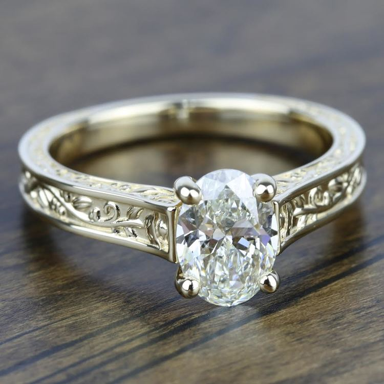 Antique Solitaire Engagement Ring in Yellow Gold | 05