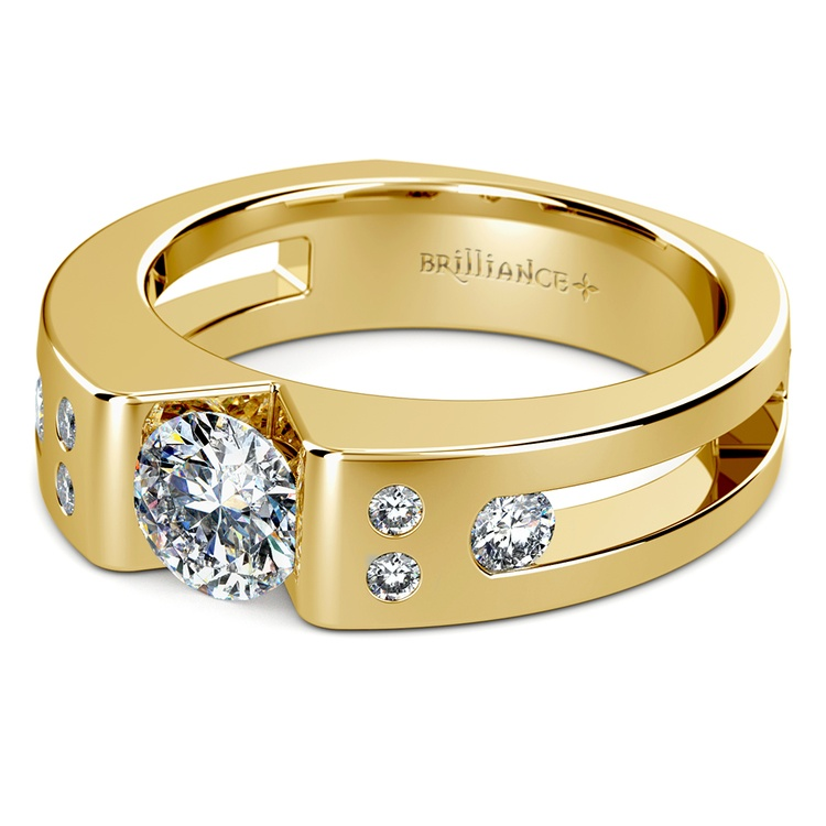 Apollo Diamond Mangagement™ Ring in Yellow Gold (1 1/3 ctw) | Zoom