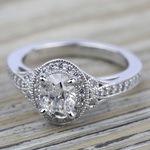 Art Deco Halo Diamond Engagement Ring in Platinum | Thumbnail 05