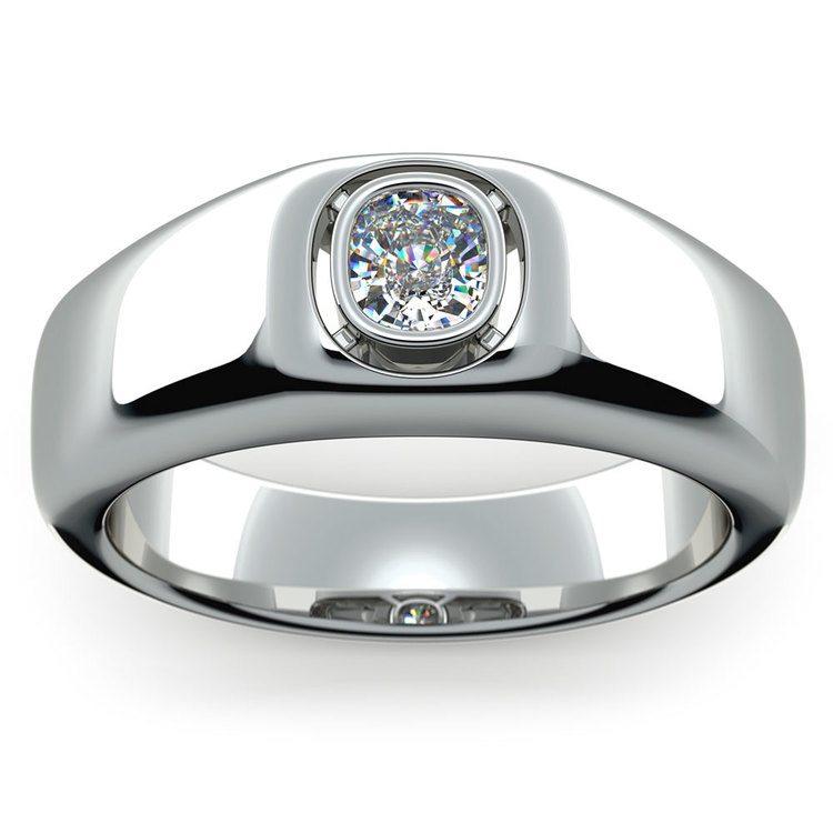 Atlas Cushion Solitaire Mangagement™ Ring (3/4 Ctw) | 02