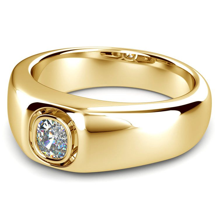 Atlas Cushion Solitaire Mangagement™ Ring in Yellow Gold (3/4 Ctw) | 01