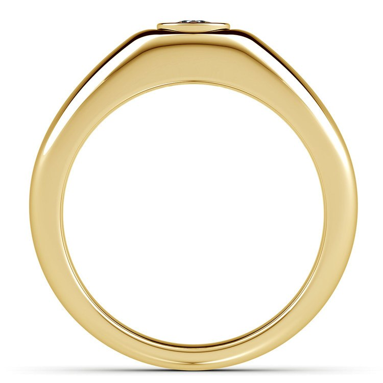 Atlas Cushion Solitaire Mangagement™ Ring in Yellow Gold (3/4 Ctw) | 03