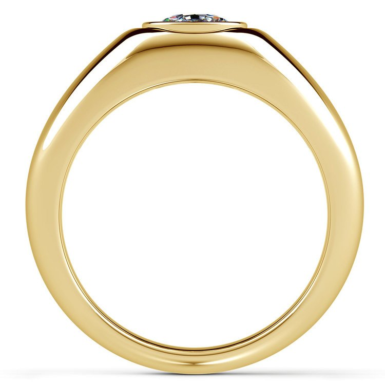 Atlas Cushion Solitaire Mangagement™ Ring in Yellow Gold (1 1/2 ctw) | 02