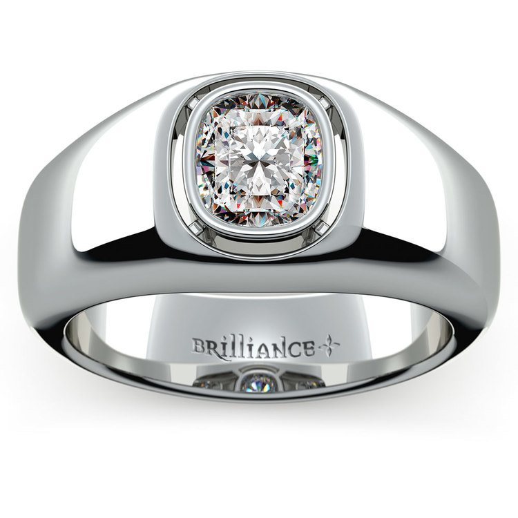Atlas Cushion Solitaire Mangagement™ Ring (1 1/2 ctw) | 02