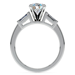 Baguette Diamond Engagement Ring in White Gold (1/4 ctw) | Thumbnail 02