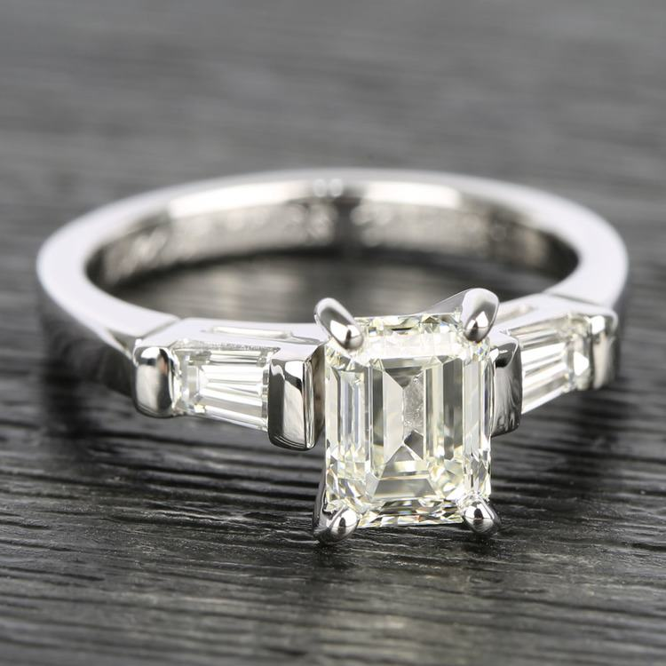 Baguette Diamond Engagement Ring in White Gold (1/4 ctw) | 05
