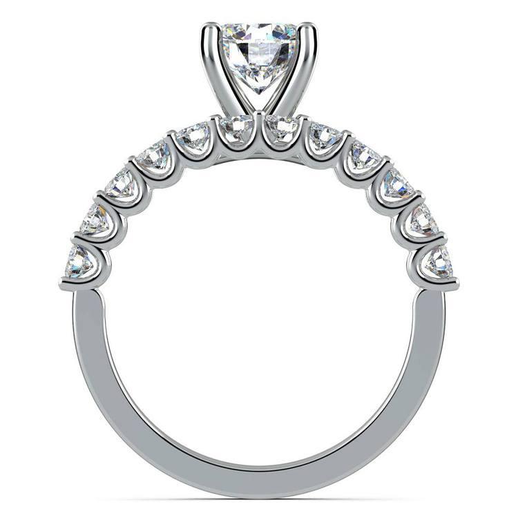 Beautiful U Prong Diamond Bridal Set in White Gold   02