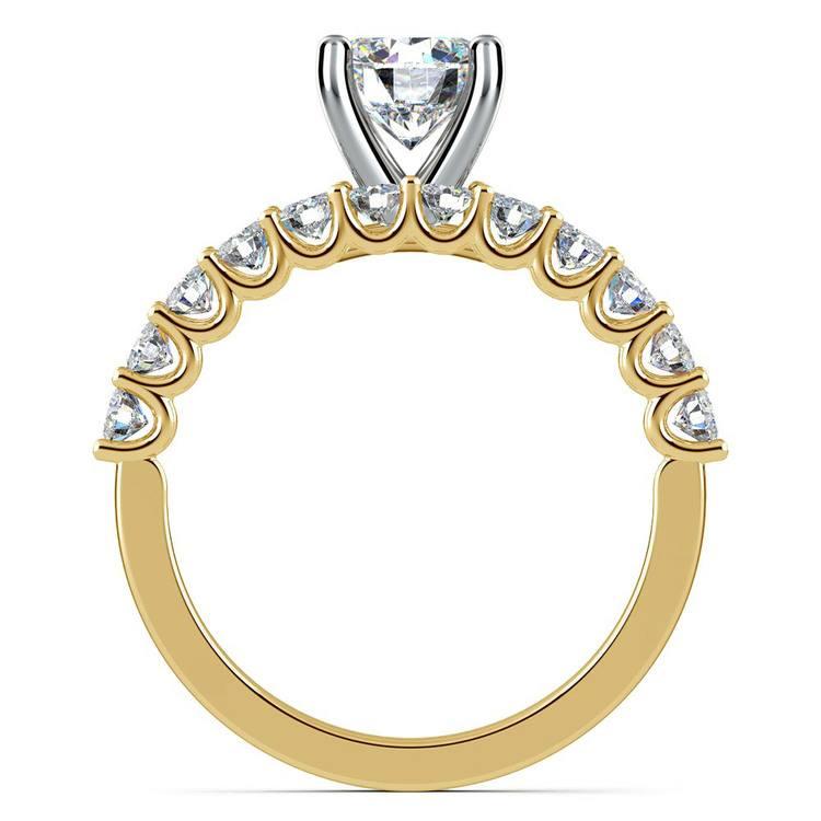Beautiful U Prong Diamond Bridal Set in Yellow Gold | 02