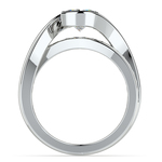 Bezel Diamond Bridge Engagement Ring in White Gold | Thumbnail 02