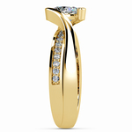 Bezel Diamond Bridge Engagement Ring in Yellow Gold | Thumbnail 03