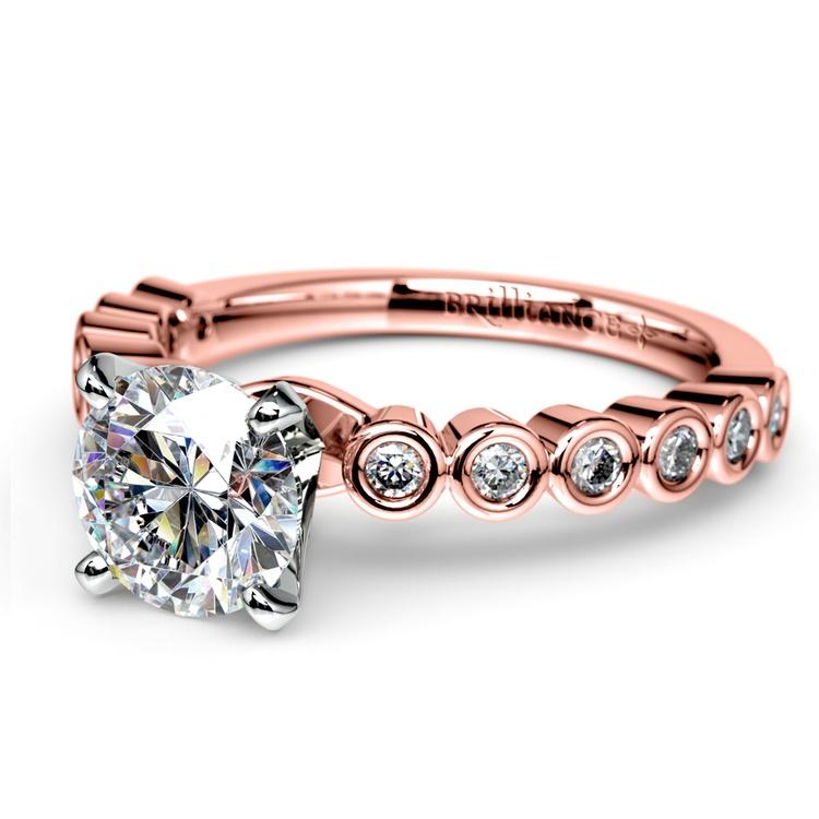 Bezel Diamond Engagement Ring in Rose Gold (1/4 ctw) | 04