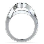 Bezel Sapphire Gemstone Bridge Engagement Ring in White Gold   Thumbnail 02
