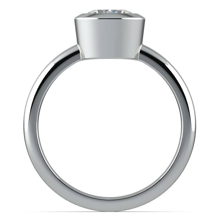 Bezel Solitaire Engagement Ring in Platinum | 02